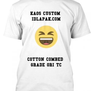 kaos custom cotton combed grade ori TC white