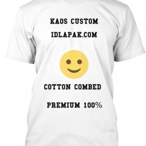 kaos custom cotton combed premium 100%
